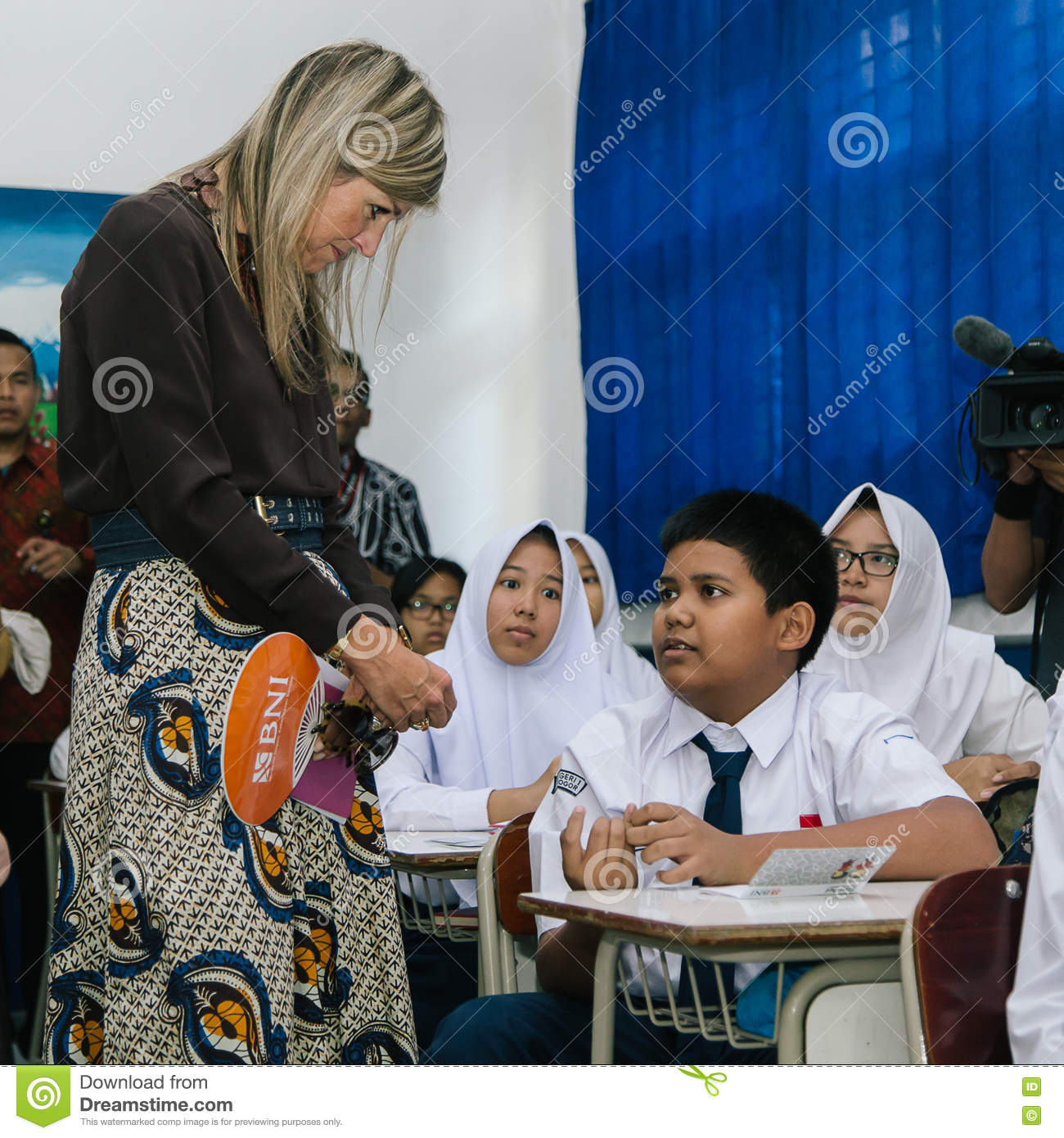 Queen Maxima Of The Netherland Visit To Indonesia Editorial Stock.