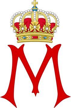 Royal Monogram of Queen Margrethe II of Denmark.