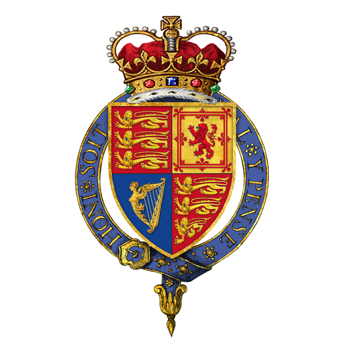File:Royal Arms of Elizabeth II, Queen of England.png.