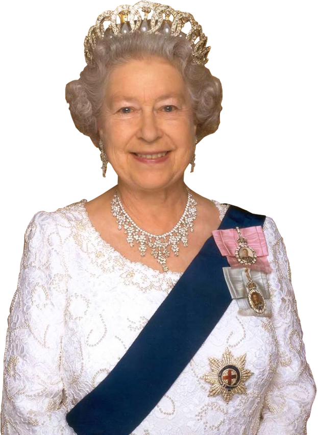 Her Majesty Queen Elizabeth 2nd transparent background.