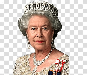 Queen Elizabeth II Profile transparent background PNG.