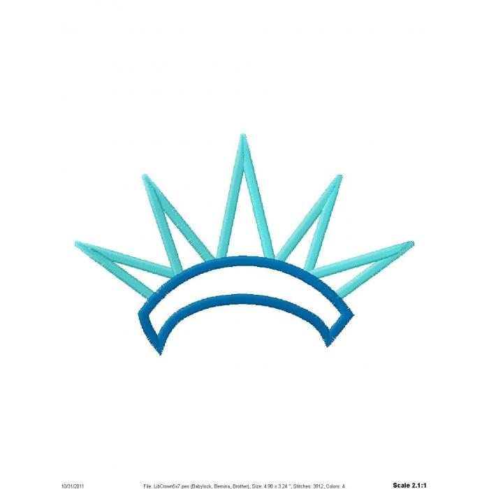 Statue of liberty crown clipart.