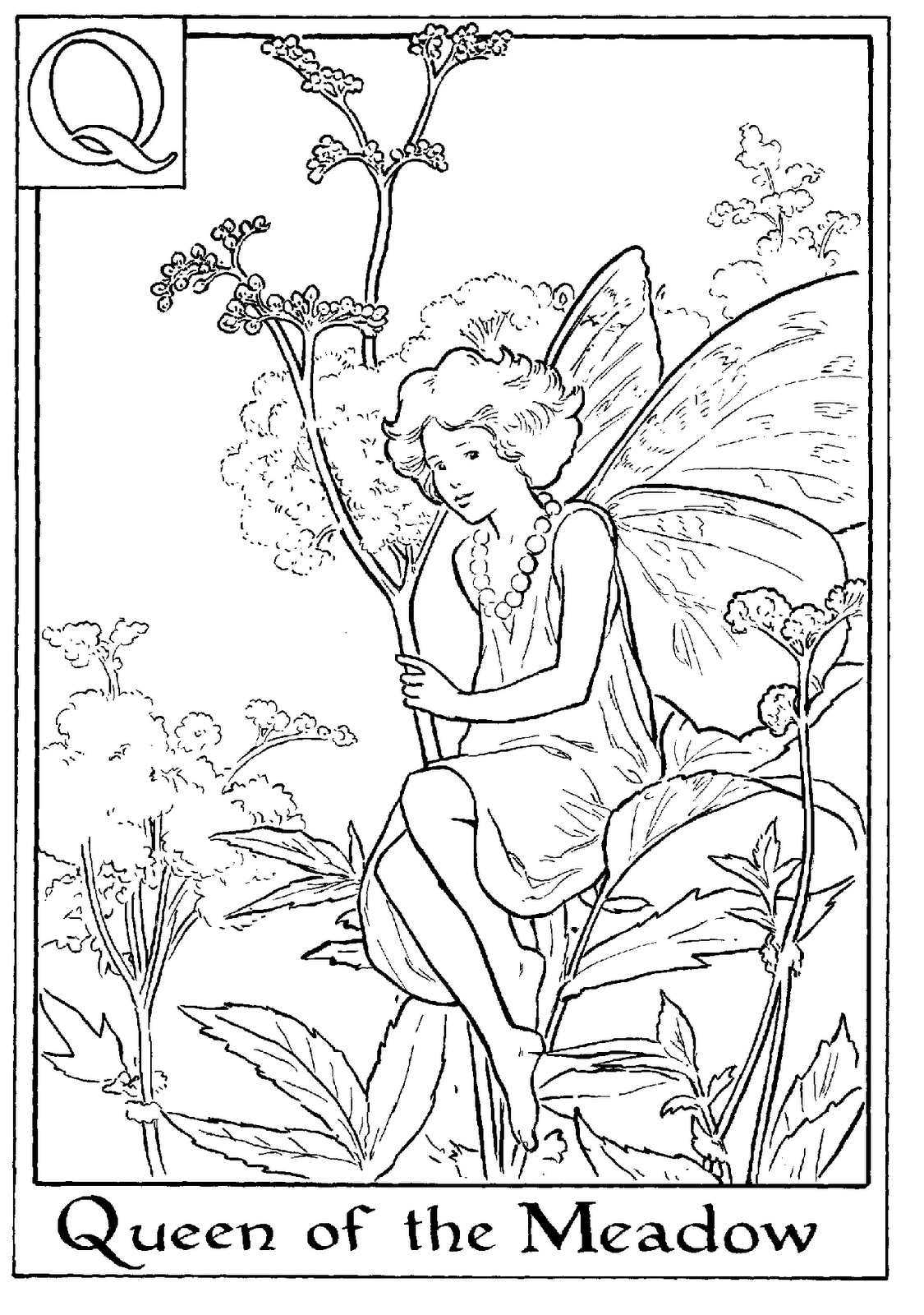 FAIRY COLORING PAGES: FLOWER FAIRY COLORING SHEETS STRAWBERRY.