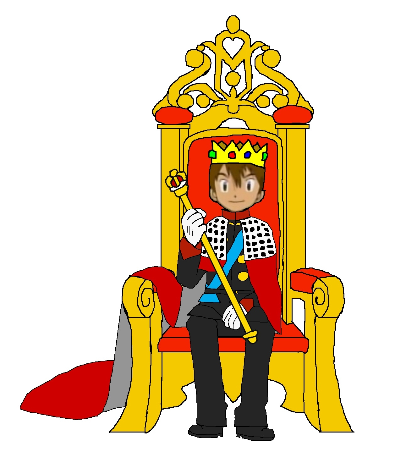King On Throne.