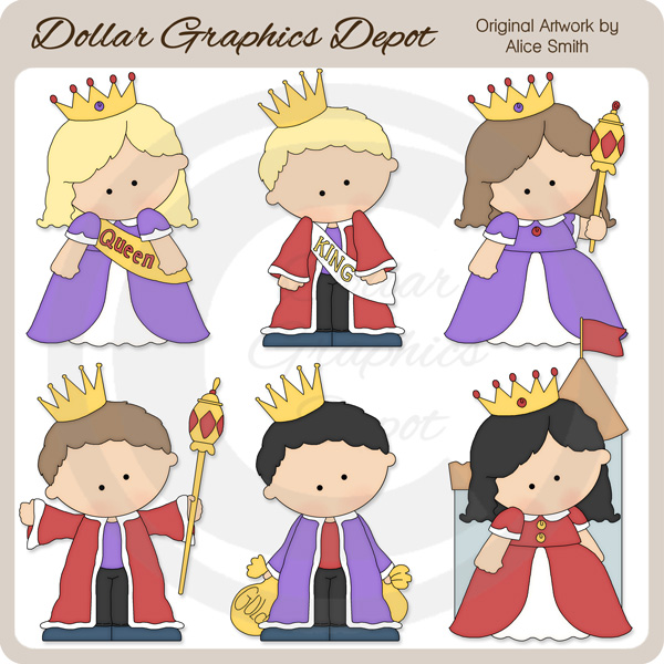 Kings and queens clipart.