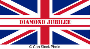 Stock Illustrations of Diamond Jubilee Union Jack flag to.
