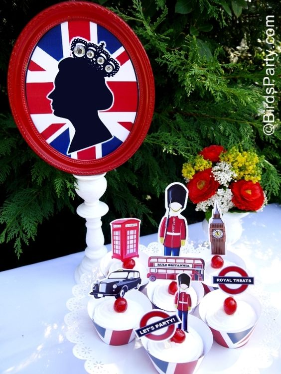 A British Inspired London UK Party with Printables.