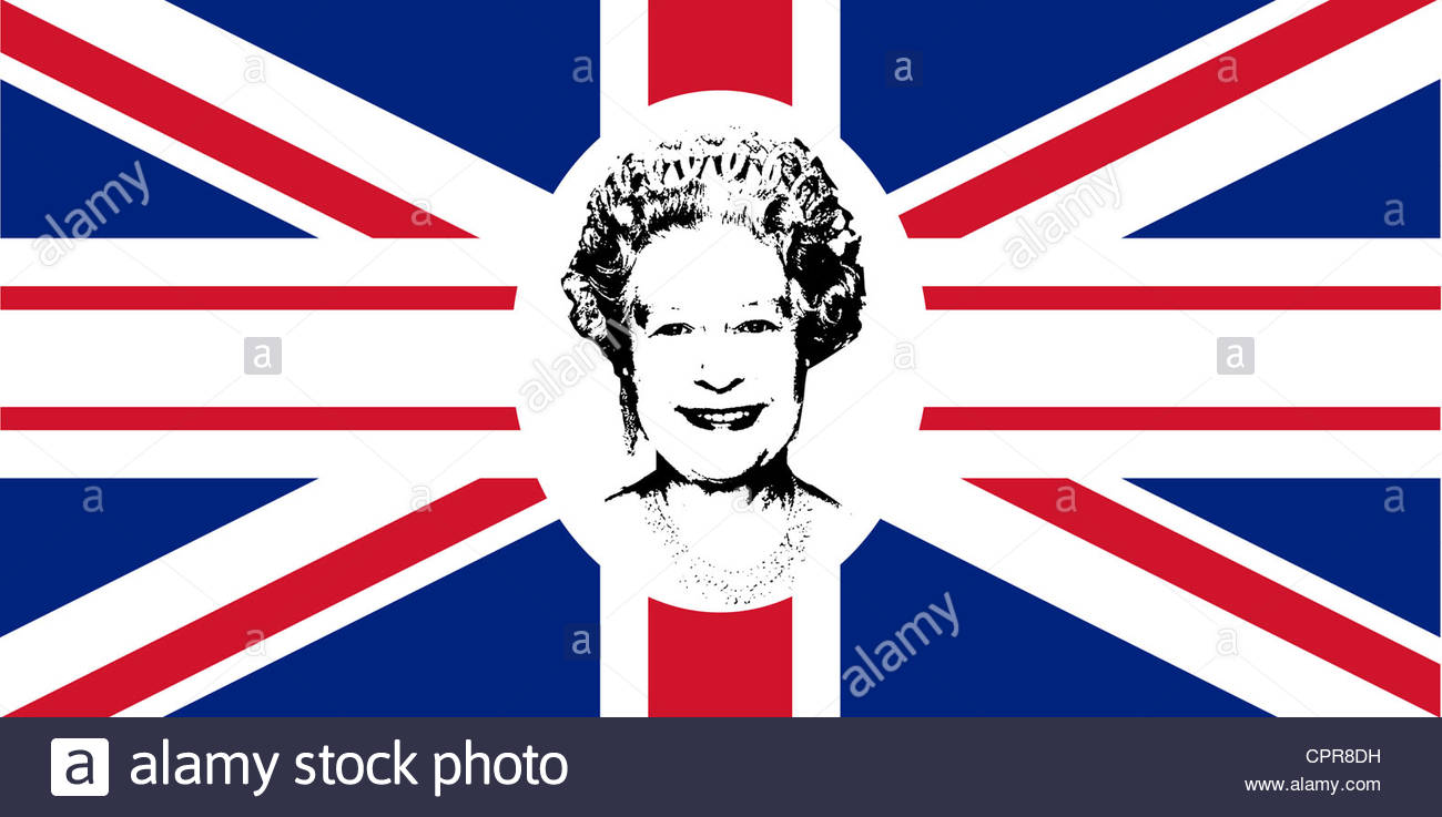 Diamond Jubilee Union Jack Flag To Celebrate Queen Elizabeth Ii.