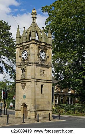 Stock Photograph of England, North Yorkshire, Ripon. Victoria.