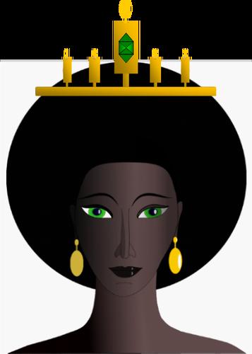 African queen's head vector image.