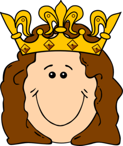 Queen head clipart.