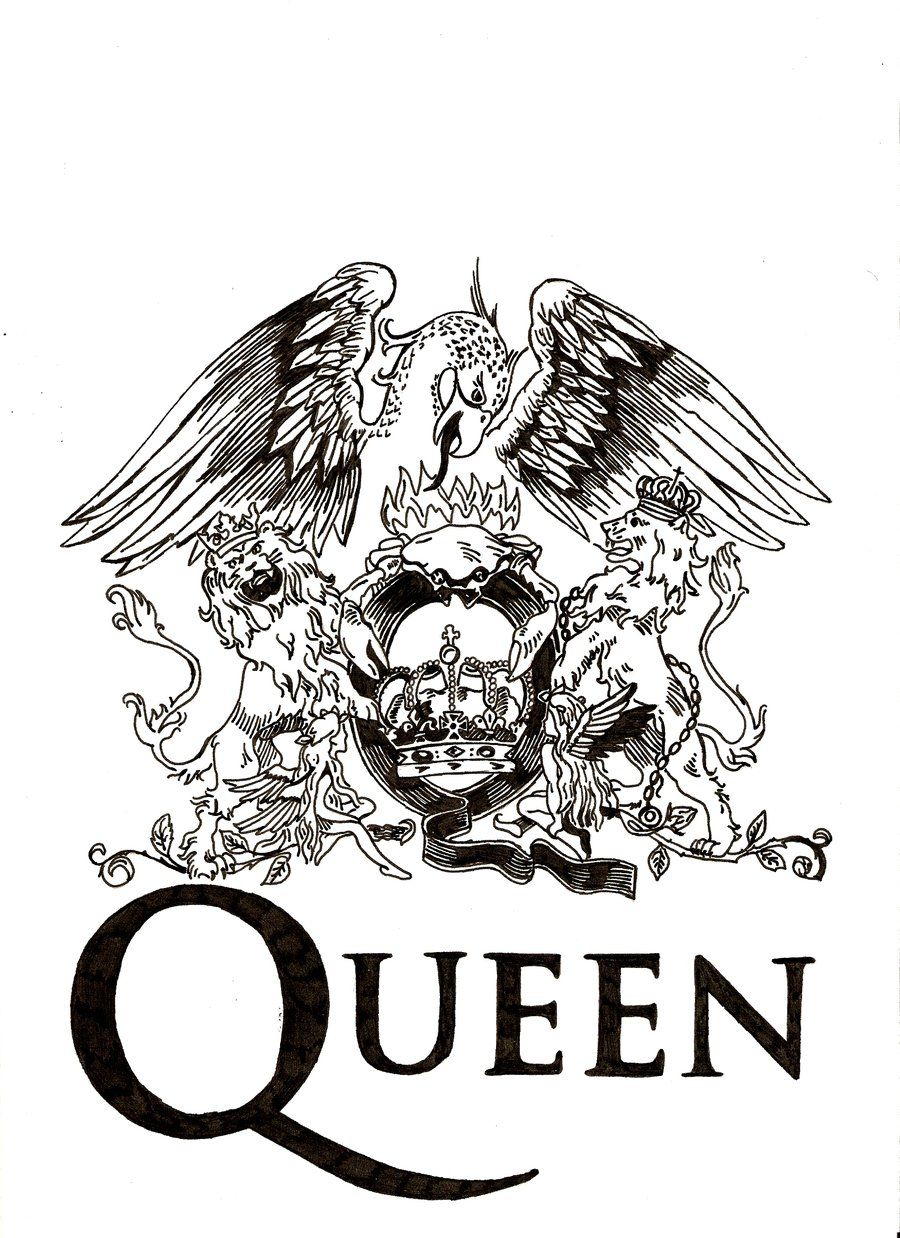 Queen logo. Genial and not that simply in 2019.