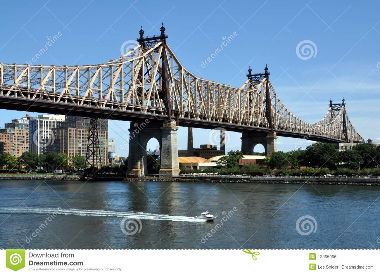 New York City: Queensboro Bridge Editorial Photo.