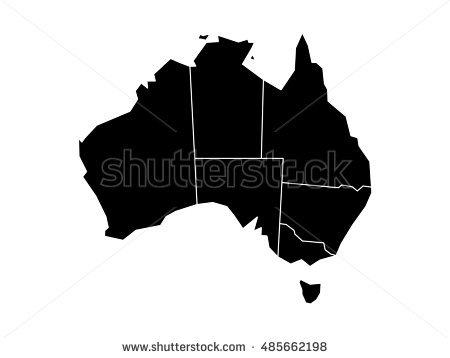 Queensland Australia Map Stock Images, Royalty.