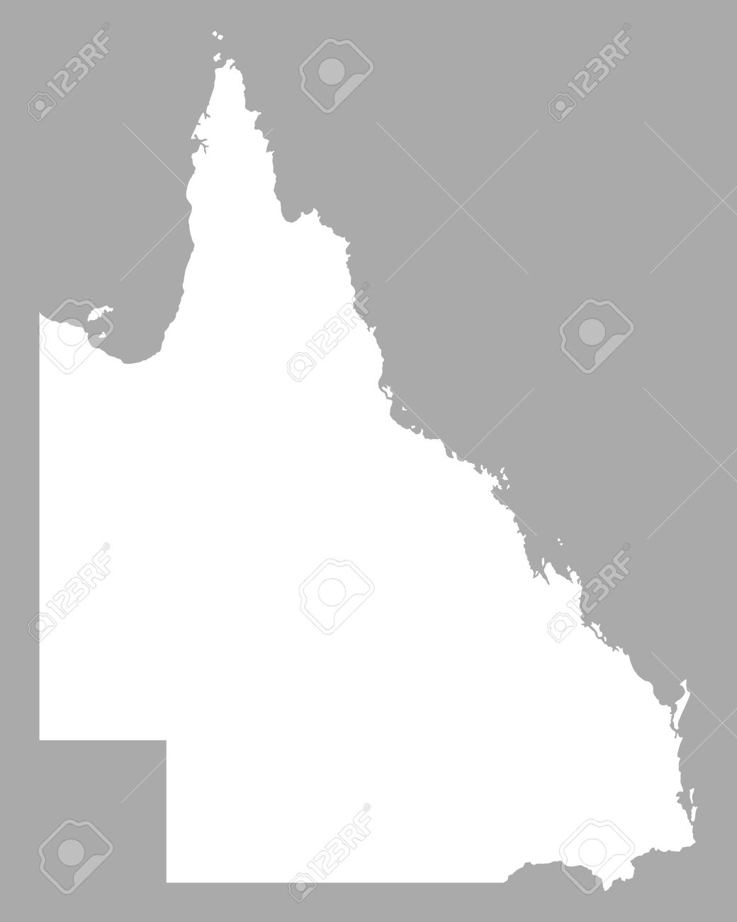Map Of Queensland Royalty Free Cliparts, Vectors, And Stock.