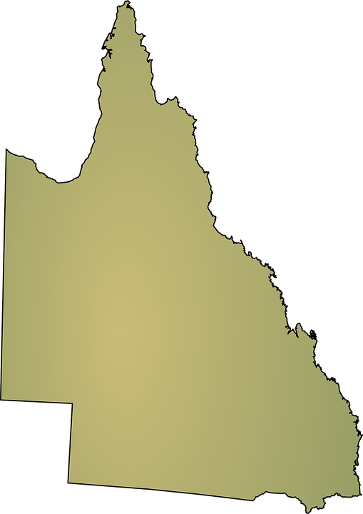 Free vector graphic: Australia, Map, Queensland, State.