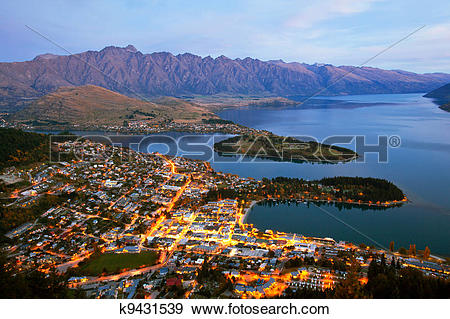 Stock Photograph of Queenstown New Zealand k9431539.