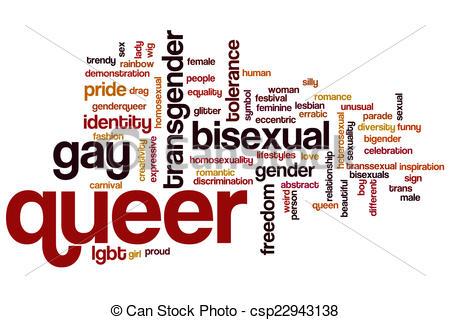 Drawings of Queer word cloud concept csp22943138.
