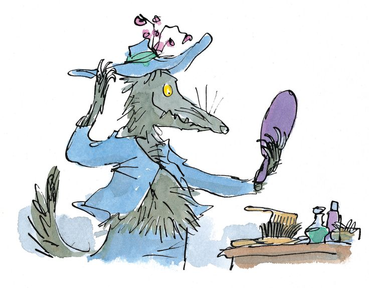 Quentin Blake Parrot Clipart.