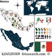 Queretaro map Clipart Illustrations. 10 queretaro map clip art.