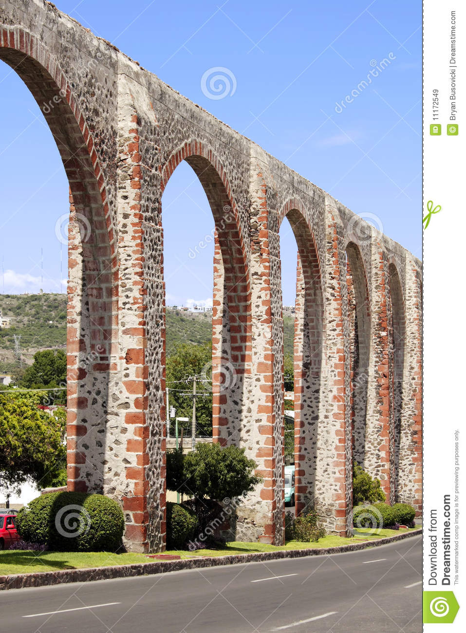 Los Arcos Of Queretaro Royalty Free Stock Images.