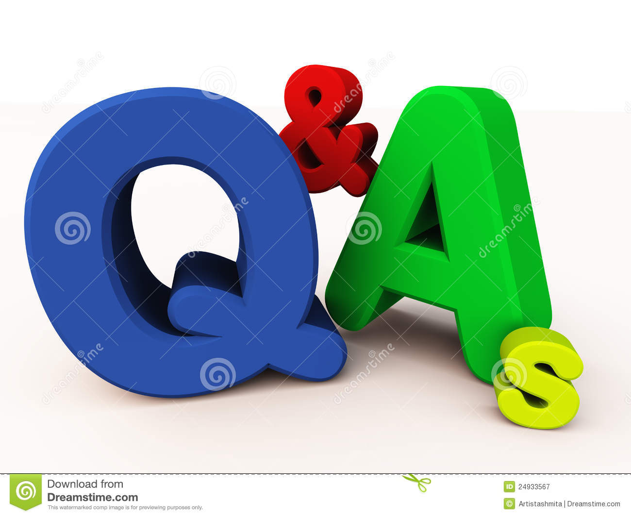 Q&As Or Question And Answers Royalty Free Stock Photography.