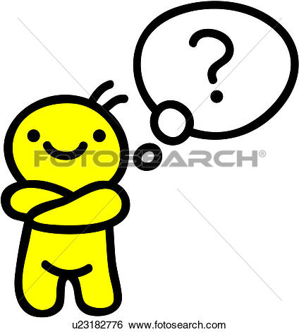Clipart of Question mark and box u11644720.