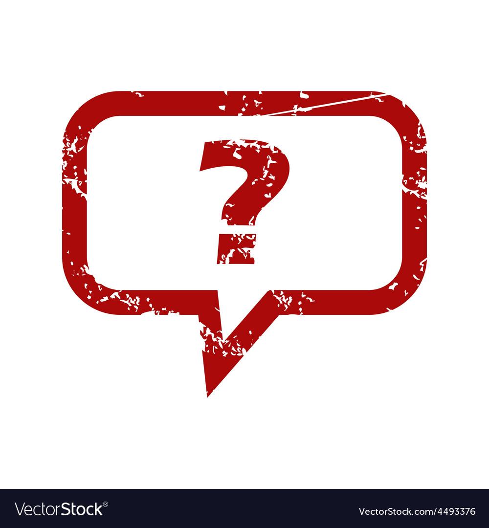 Red grunge question logo.