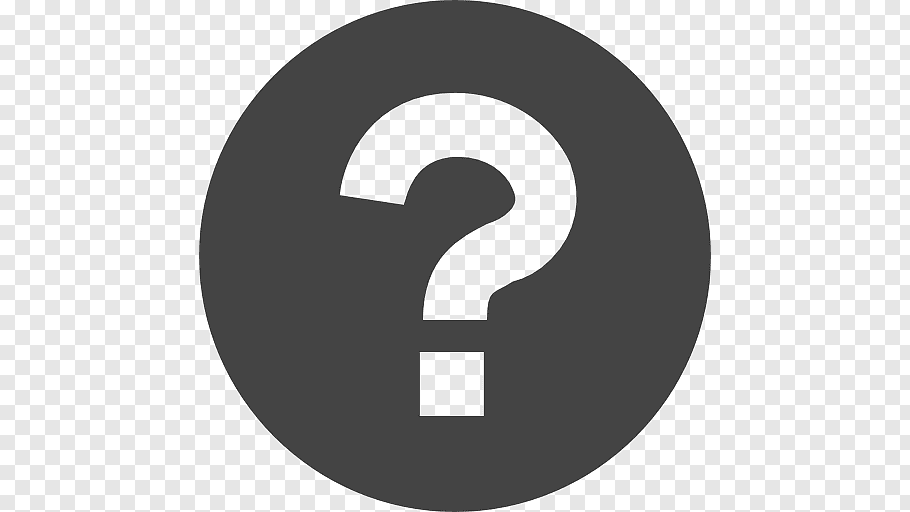 Question mark logo, Grayscale Scalable Graphics Icon.