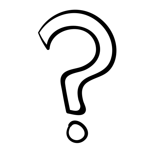 Question Mark Drawing transparent PNG.