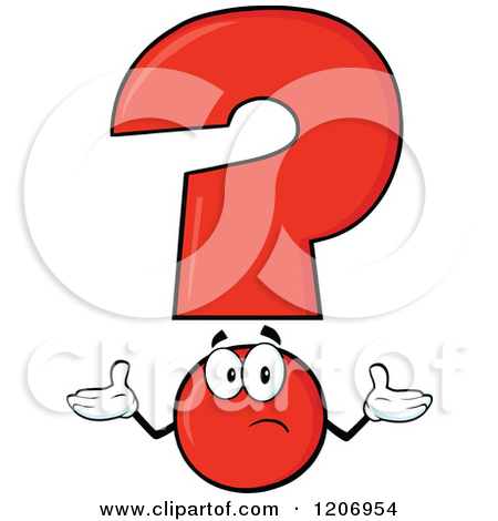 Cartoon of a Shrugging Question Mark and Smart Exclamation Point.