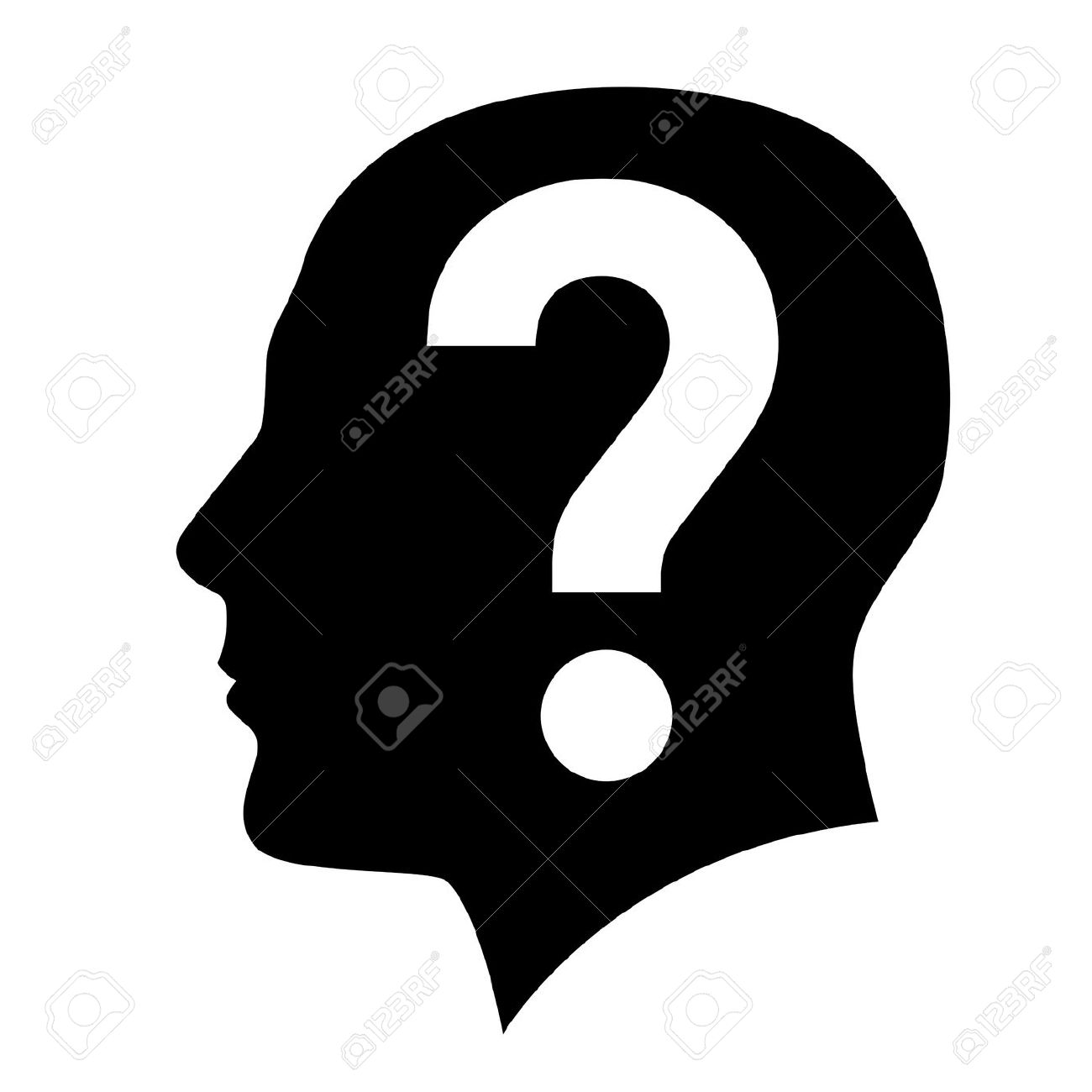 Question head clipart.