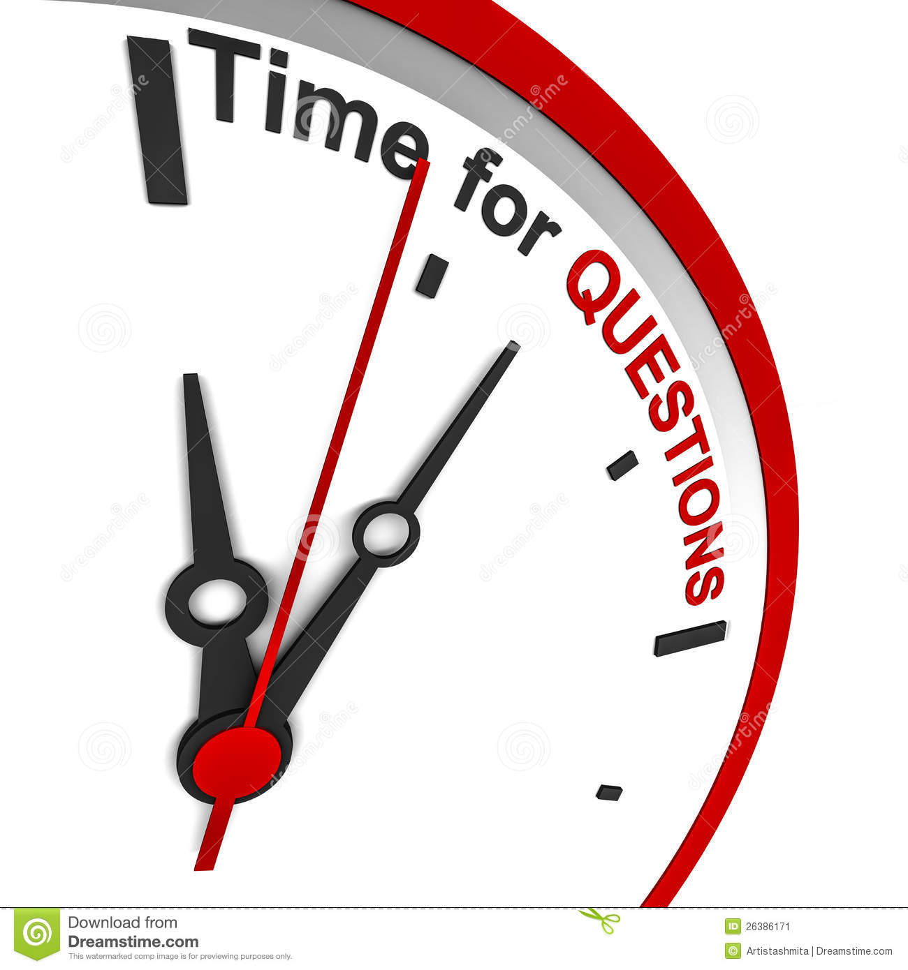 Questions Time Stock Image.