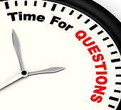 Question Time Stock Photos.