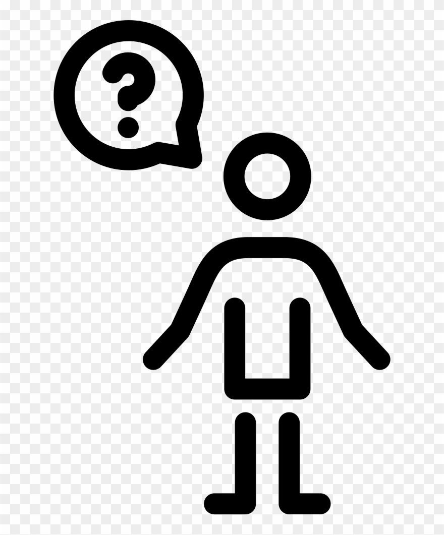 Man Questioning Comments Clipart (#2856367).
