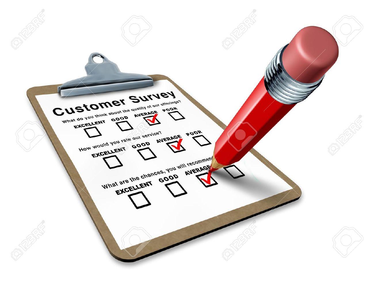 Survey questionnaire clipart.