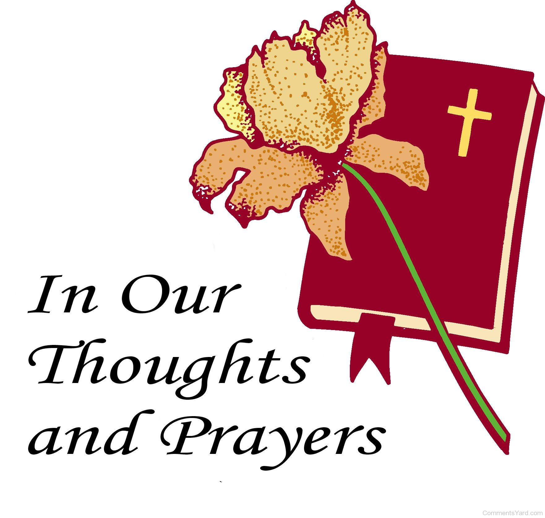 Thoughts And Prayers Clipart.