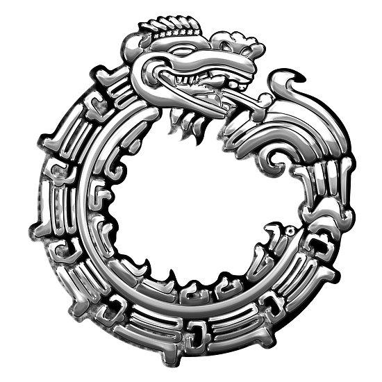 """Aztec Serpent Quetzalcoatl 3d [Silver] """" by Captain7."""