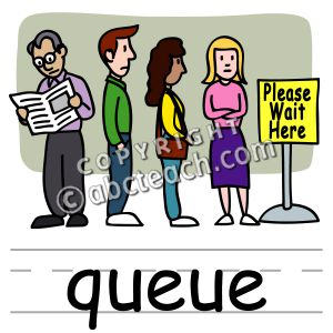 Student queue clipart.
