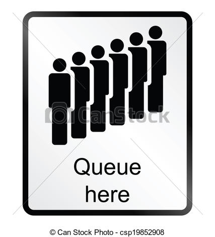 Queue Clip Art Free.