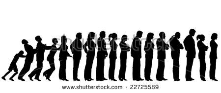 Standing In Queue Stock Vectors, Images & Vector Art.