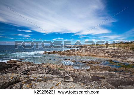 Stock Photography of Cote Sauvage at the west side of peninsula.