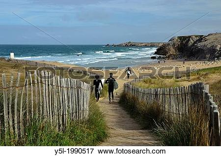 Picture of C?te Sauvage (The Wild coast), Port Bara, Quiberon.
