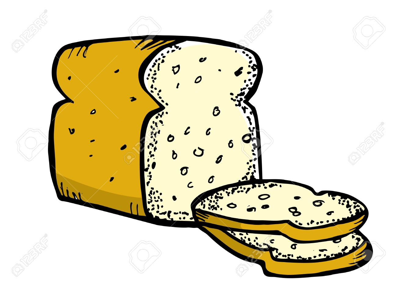 Showing post & media for Cartoon bread clip art.