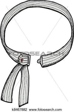 Clipart of Quick Release Judo Belt k8467882.