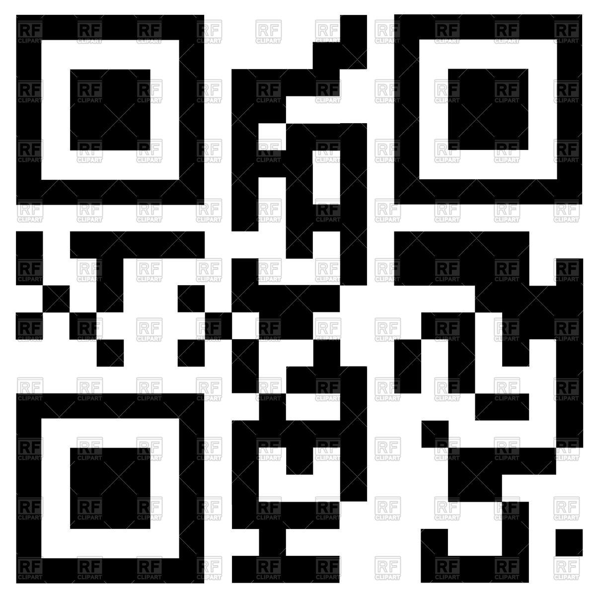3D QR Code Vector Image #7035.