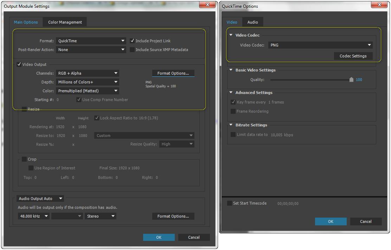 Render Alpha Channel in Adobe Media Encoder : Adobe Media.