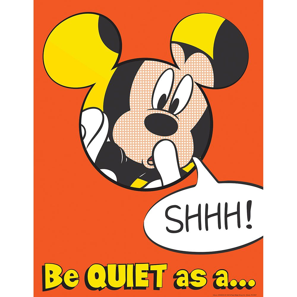 Mickey Quiet as a Mouse Poster.