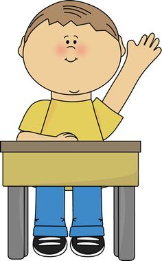 Student quiet hands clipart.