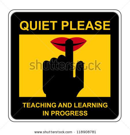 Quiet Please Stock Photos, Royalty.